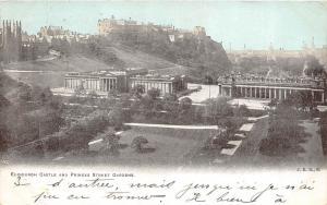 B94881 edinburgh castle and princes street gardens scotland