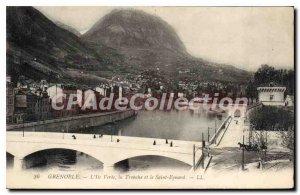 Old Postcard The Green Island Grenoble La Tronche And The Saint Eynard
