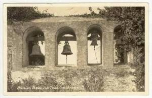 Real Photo: Mission Bells, San Juan Capistrano, California, 1930s PU