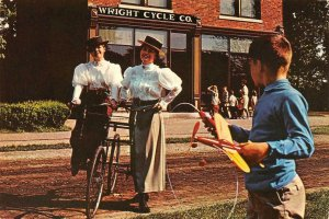 WRIGHT BROTHERS BICYCLE SHOP Greenfield Village, Dearborn, MI Vintage Postcard