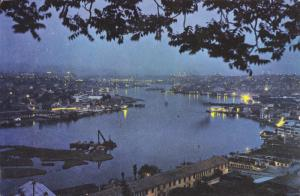 Golden Horn at Night, Istanbul, Turkey, 50´s-70´s