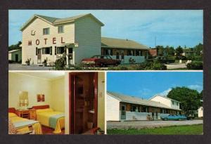 NB White Swan Motel ST STEPHEN NEW BRUNSWICK POSTCARD