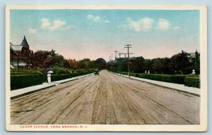 Postcard NJ Long Branch Cedar Avenue Dirt Road c1917 View U12