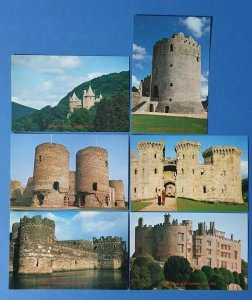 Set of 6 NEW Post Office Postcards WMPB 1983 FIRST DAY OF ISSUE, CASTLES BQ2