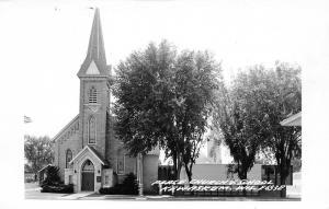 Kewaskum Wisconsin~Peace United Church of Christ Church RPPC c1950