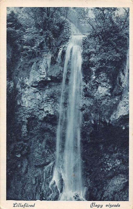 Hungary Lillafured, The Great Waterfall, Falls, Cascade, Nagy vizeses 1931