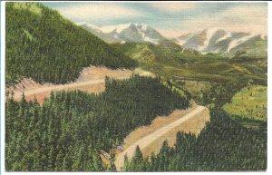 Estes Park, CO - Mt. Ypsilon & Mummy Range from Trail Ridge Rd,Rocky Mtn NP 1951