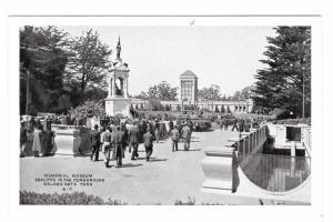 San Francisco CA Memorial Museum Golden Gate Park Seal Pits Vintage Postcard