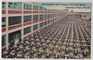 Days Output, Ford Motor Co Plant, Detroit MI