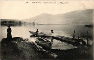 CPA Lepin - Embarcadere sur le Lac d'Aigulebette (438242)