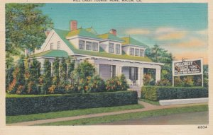 MACON , Georgia , 1930-40s ; Hill Crest Tourist Home