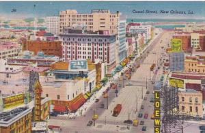 Louisiana New Orleans Canal Street Aerial View