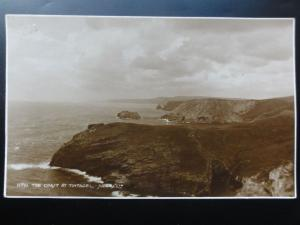 Cornwall: The Coast at Tintagel c1929 RP Pub by Judges