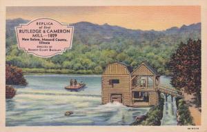 Illinois New Salem Replica Of First Rutledge & Cameron Mill 1828 Curteich