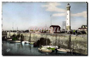 Postcard Riva Bella Old Port and the Lighthouse Fishing Boat