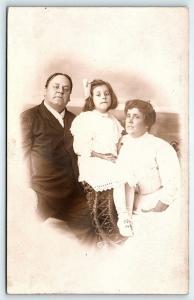 Postcard Family Studio Portrait RPPC Ping Pong Studio Asbury Park NJ B36