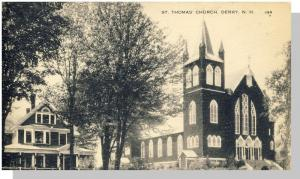 Derry, New Hampshire/NH Postcard, St. Thomas Church