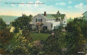 c1915 Silent Movie star Cowboy William S Hart Residence HOLLYWOOD Western 3420
