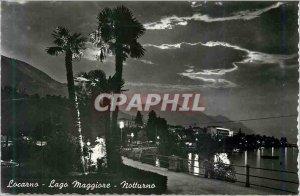 Modern Postcard Locarno Lago Maggiore notturno