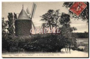 Postcard Old Windmill Paris Bois de Boulogne The mill Longchamps