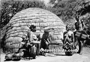 Native family in Valley of 1000 Hills African Nude Unused