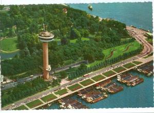 Rotterdam, Panorama met Euromast, 1960s unused Postcard