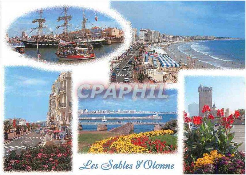 Modern Postcard Les Sables d'Olonne (Vendee) Boat