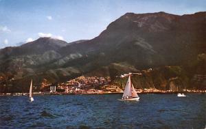 Venezuela Old Vintage Antique Post Card Harbor of La Guaria Unused