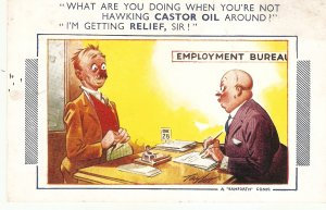 What are you doing whenyou're not hawkin. Bamforth Comic Series postcard # 912