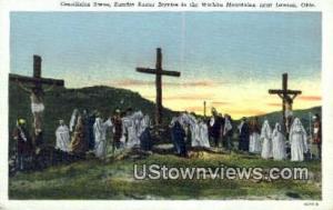 Crucifixion Scene, Wichita Mtns Lawton OK Writing On Back