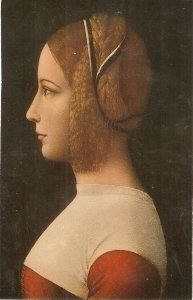 A. de Predis. Portait of a Young Lady Fine art, painting, vintage Italian PC