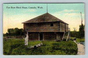 Centralia WA-Washington Historic Fort Borst Block House, Vintage Postcard