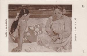 RP: Two girls painting by GAUGIN , Tahiti , 00-10s
