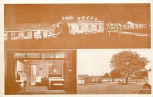 Nashville TN Telephone in View Thru Window~Alamo Plaza Night, Day~1940s Postcard