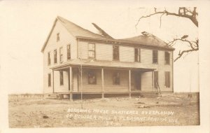 LP79 Pleasant Prairie Wisconsin Postcard RPPC Powder Explosion Boarding House