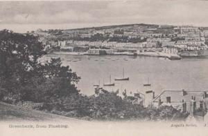 Greenbank From Flushing Cornwall Antique Boat Ship Harbour Postcard