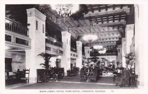 RP, Main Lobby, Royal York Hotel, Toronto, Ontario, Canada, 1920-1940s