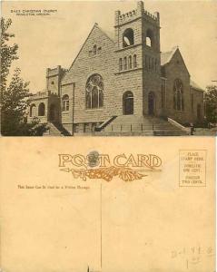 Christian Church, Pendleton, Oregon, OR Divided Back