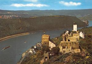 Die feindl. Brueder am Rhein, Burg Sterrenberg Liebenstein Castles Panorama