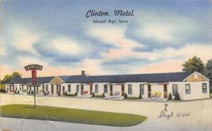 Mount Ayr IA Clinton Motel: (Arrow Points): We Slept in Here~AMHA 1940s Linen