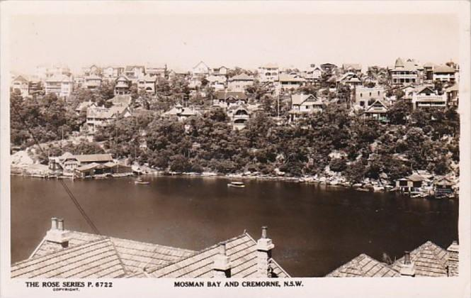 Australia New South Wales Mosman Bay and Cremorne Real Photo