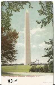 Washington Monument Washington D.C. printed Pre 1907 in Germany Undivided Back