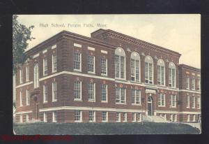 FERGUS FALLS MINNESOTA HIGH SCHOOL BUILDING ANTIQUE VINTAGE POSTCARD MINN.
