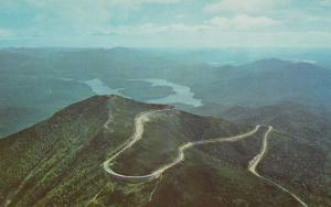 Aerial View Whiteface Mountain Highway - Adirondacks, New York