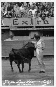 RPPC Pepe Luis Vázquez de Mexico Bullfighter Toreador ca 1940s Vintage Postcard