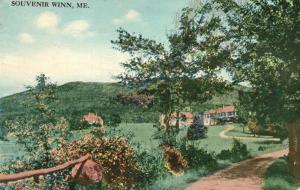 Souvenir of Winn, Maine, ME, 1914 Antique Vintage Postcard f8608