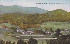 Vermont Plymouth The Birthplace Of Calvin Coolidge Albertype