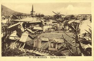 mauritius maurice, After the Cyclone (1930s) Mission Postcard