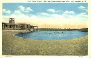 Bath at Lea Lake Roswell NM Writing On Back