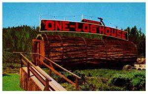 California  Redwood One Log House